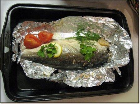Рыба в фольге по-бретонски