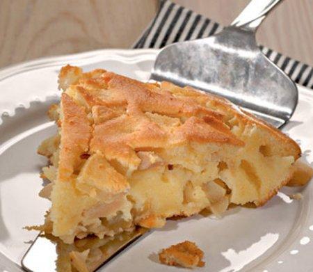Яблочная запеканка с белого хлеба