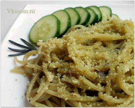 Спагетти со шпинатом