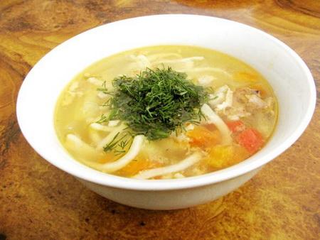 Домашняя лапша рецепт куриный суп 133