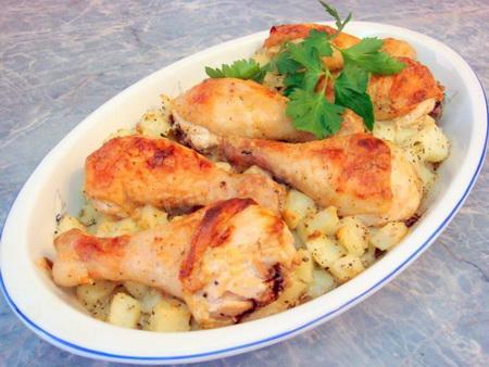 Куриные голени с картошкой (советы)